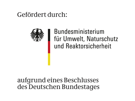 Logo BMU mit Förderzusatz