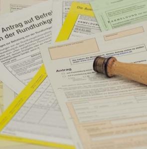 Antragsformular, Formular, Stempel vorschau
