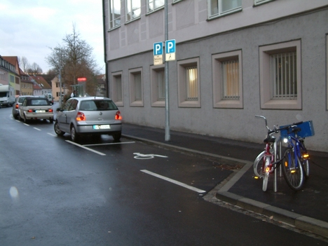 Zindelgasse - Behindertenparkplatz