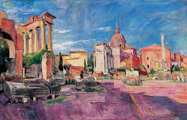 Italiensehnsucht_Hans_Purrmann_Forum Romanum_1923
