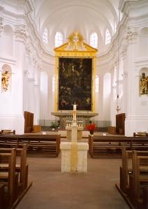 Innenraum der Kirche Stift Haug in Würzburg