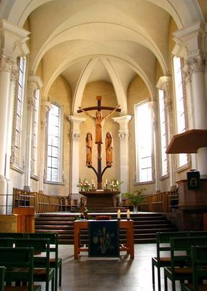 Innenraum der Kirche St. Stephan in Würzburg
