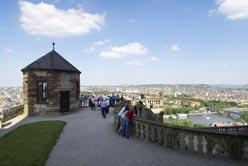 Blick von der Festung Marienberg auf Würzburg