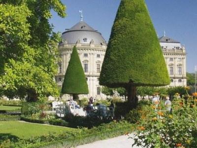 Kegelbäume im Hofgarten der Würzburger Residenz