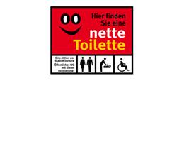 Aufkleber der Aktion Nette Toilette