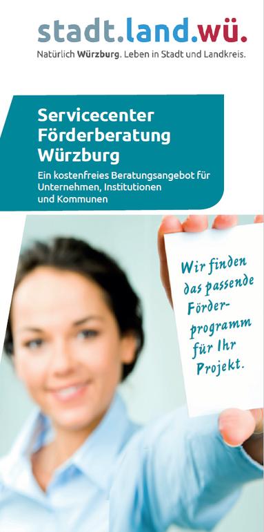 Servicecenter Förderberatung Jahresflyer 2020 Titelseite