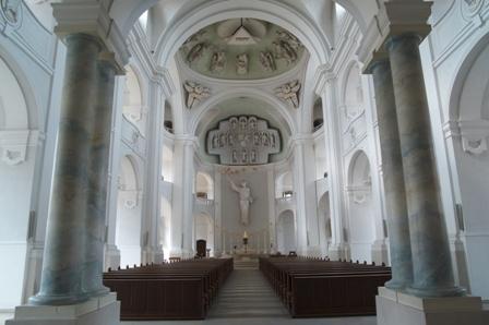 Innenraum der Kirche St. Michael in Würzburg