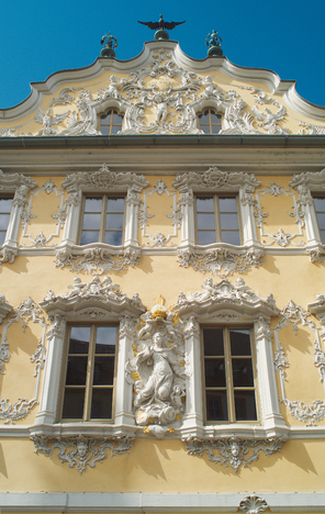 Falkenhaus stucco facade