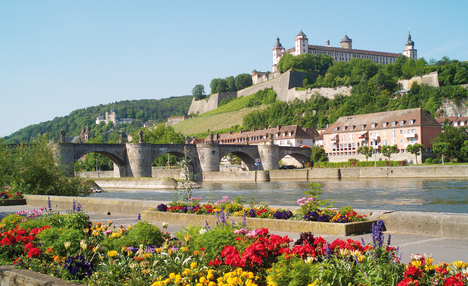 Waterfront and view of Fortress Marienberg