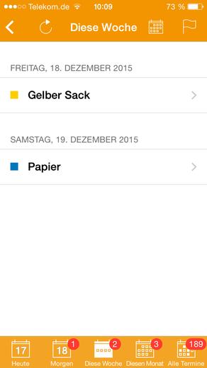 Termine Diese Woche Abfall App