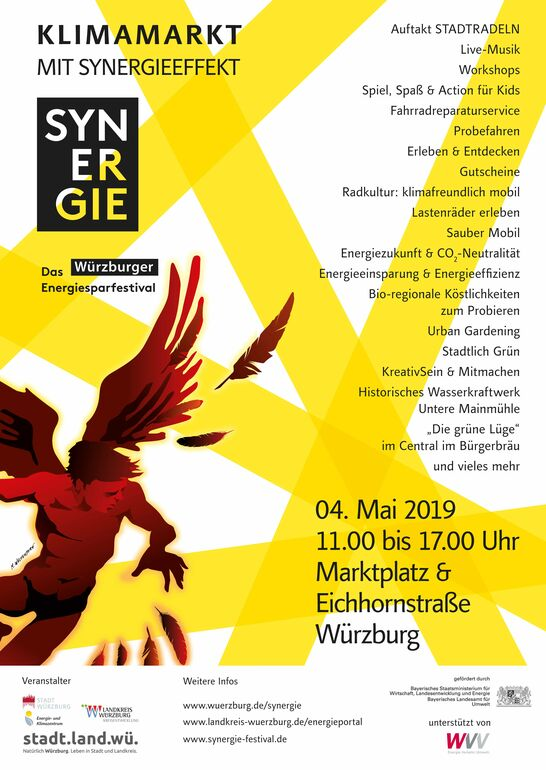 Plakat Synergiefestival Würzburg 2019