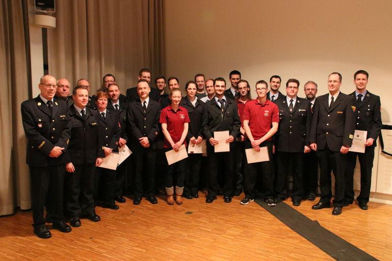 Kommandantenwahl Feuerwehr Würzburg 2018; Foto: FF Würzburg