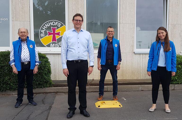 Bahnhofsmission - Besuch vom Bürgermeister Heilig
