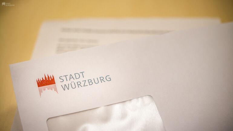Brief von der Stadt Würzburg