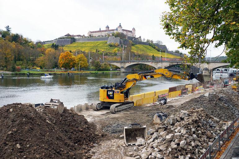Foto: Baustelle am Main (c) Boris Albert