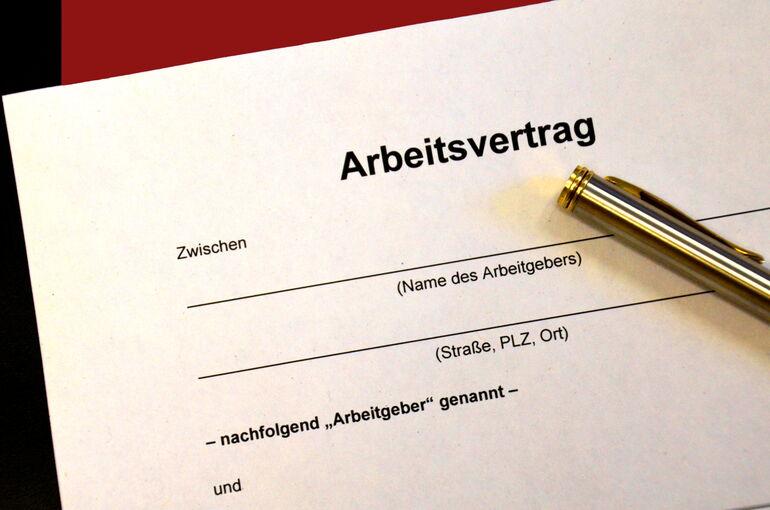Foto: Arbeitsvertrag