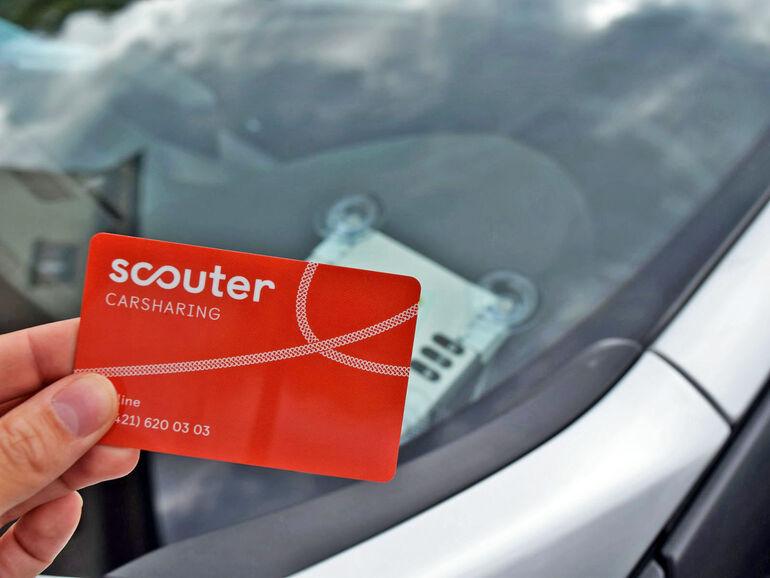 Öffnung des Autos mit der Kundenkarte