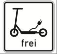 """Zusatzzeichen """"Elektrokleinstfahrzeuge frei"""":"""