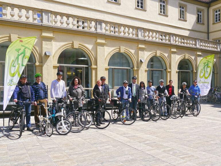 Fahrradflotte: in Teil der Diensträder der Stadt Würzburg / Stadt Würzburg