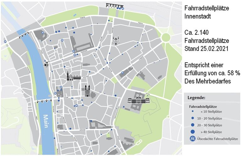 Fahrradstellplätze in der Innenstadt, Stadt Würzburg