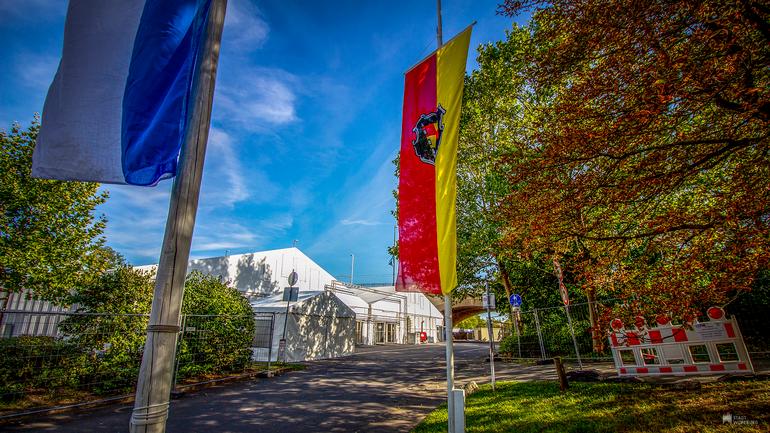 Mainfranken-Messe 2021 - Eingang zur Halle