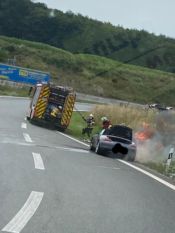24.07.2021 - Fahrzeugbrand auf der A 3