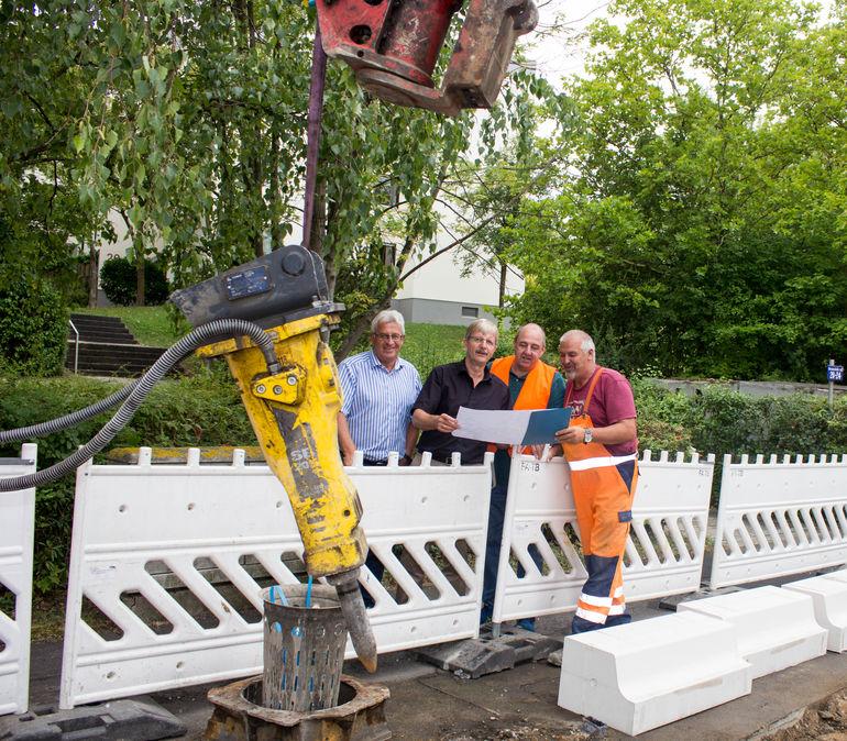 Die Bushaltestelle in der Hessenstraße wird barrierefrei ausgebaut