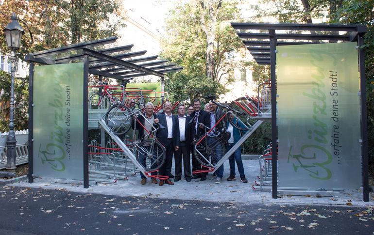Neue Fahrradgarage