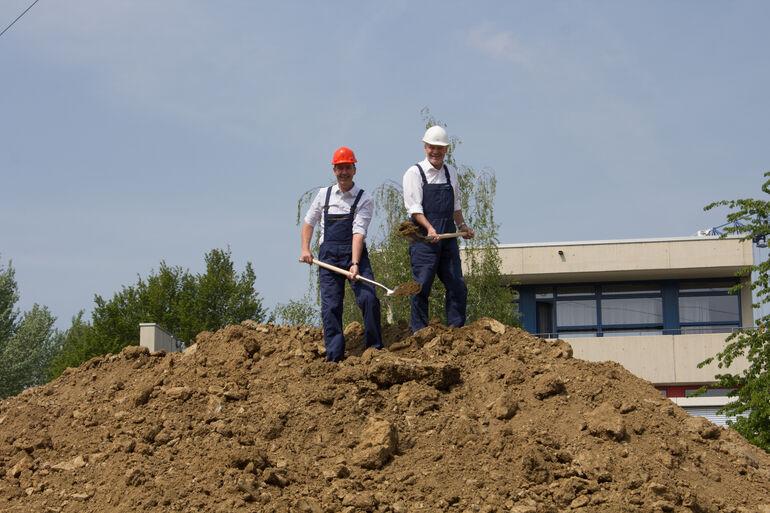 Gemeinsame Sache: Oberbürgermeister Christian Schuchardt und Landrat Eberhard Nuß.