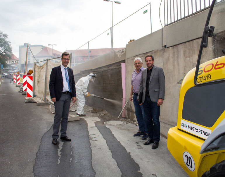 Baustelle Europastern Unterführung