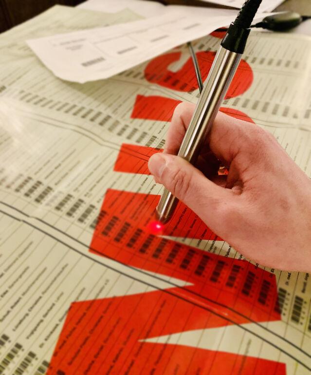Barcodestift Wahlen Würzburg