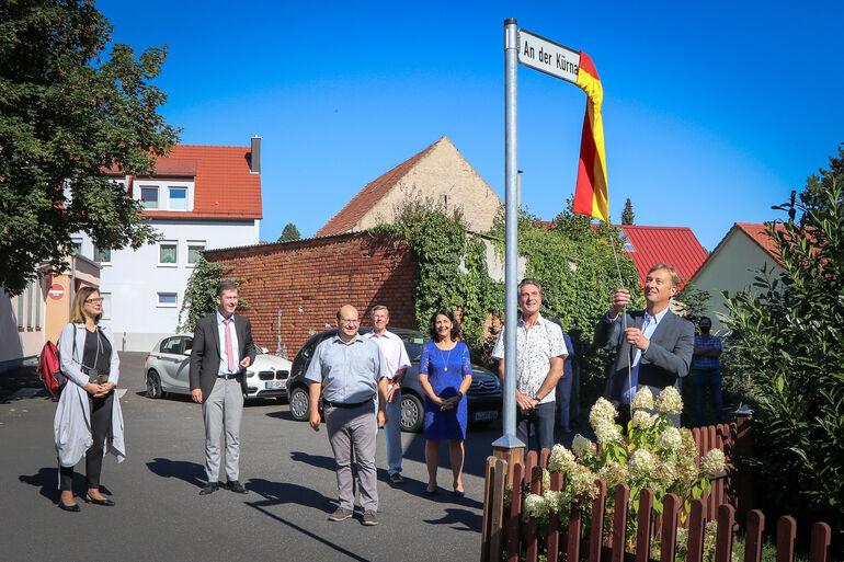 Bild: Neue Straße in Lengefeld An der Kürnach