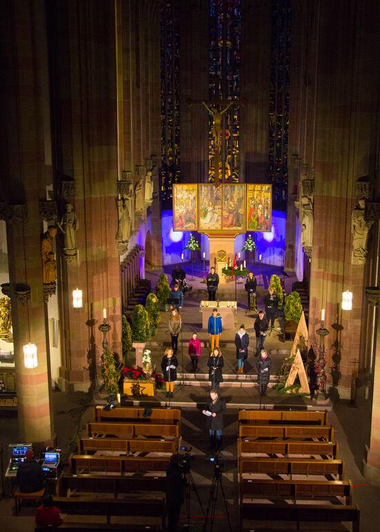 Das Singen wurde im Vorfeld des 4. Advents in der Marienkapelle aufgezeichnet.