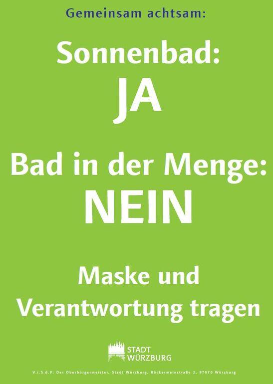 Plakat Sonnenbad Nein