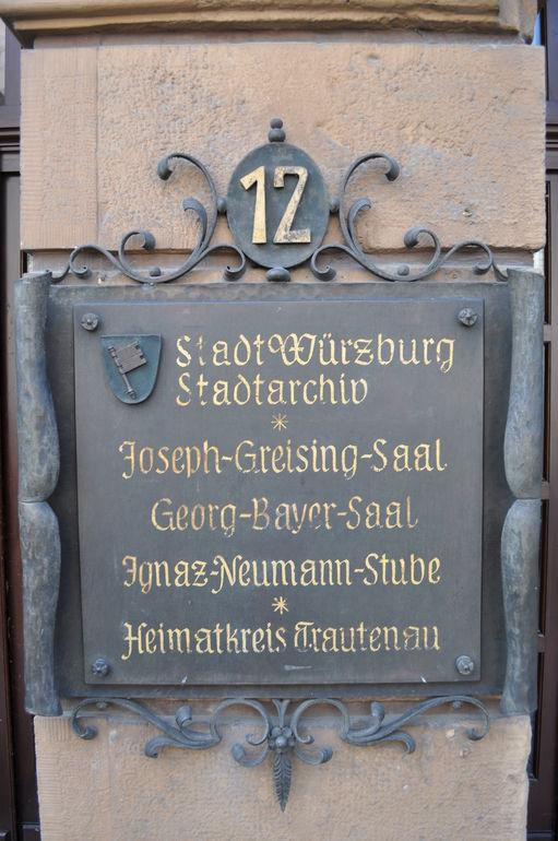 Das Stadtarchiv der Stadt Würzburg