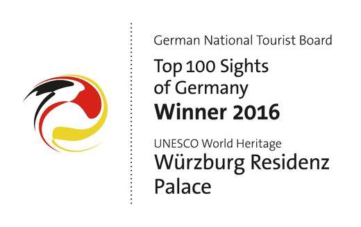 Logo - Top 100 Sehenswürdigkeiten Deutschlands 2016 - Residenz Würzburg
