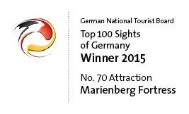 Logo - Top 100 Sehenswürdigkeiten Deutschlands 2015 - Festung Marienberg