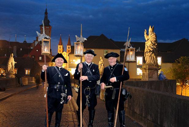Unterwegs mit dem Würzburger Nachtwächter