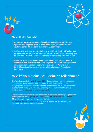 Virtual Science Fair Flyer Seite 2