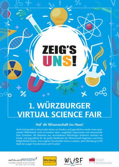 Virtual Science Fair Flyer Seite 1